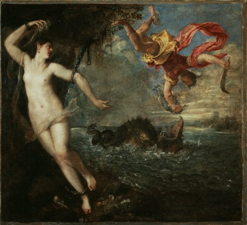Titian Revisited: Titian, Perseus and Andromeda, 1554-56, Wallace Collection, London, England, UK.