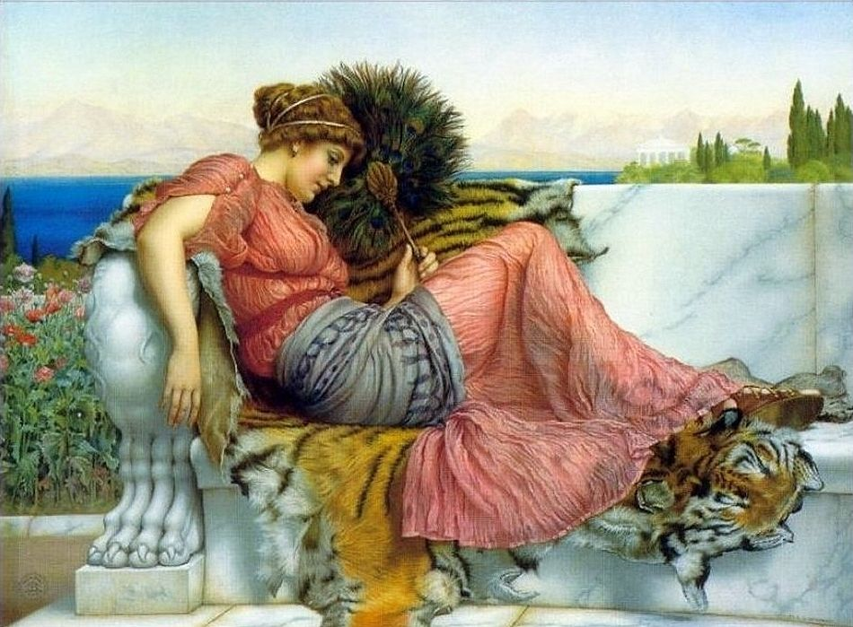 John William Godward, Poppaea Sabine or Amaryllis,