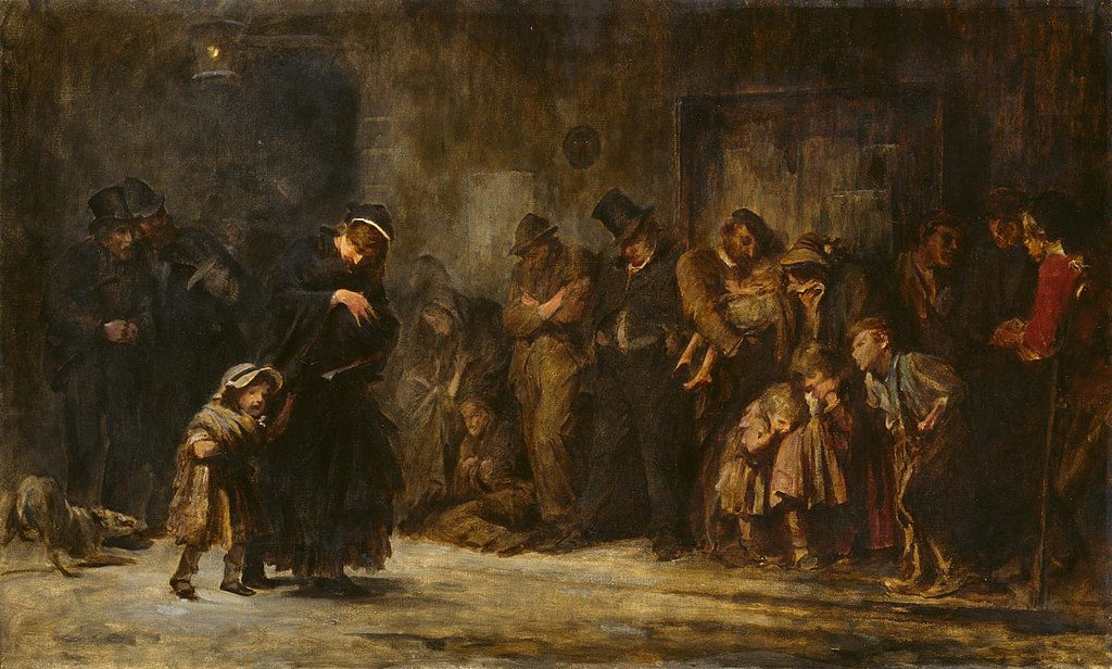 Parenting in art: Luke Fildes, Applicants for Admission to a Casual Ward, 1908, Tate, London, UK.