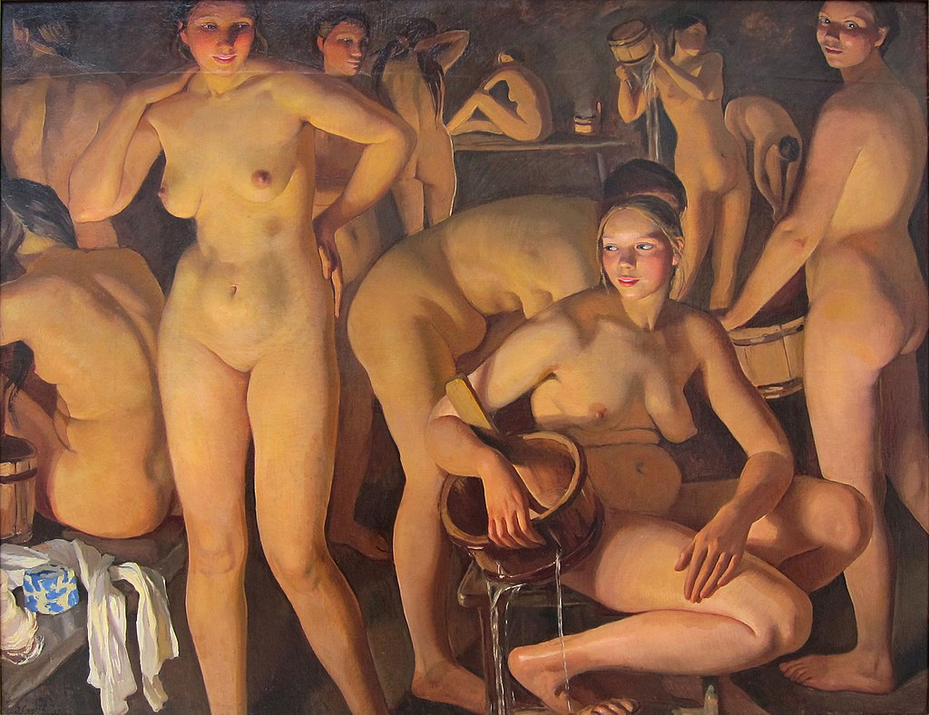 Zinaida Serebriakova. Zinaida Serebriakova, The Bath-house, 1913, The State Russian Museum, Saint Petersburg, Russia.