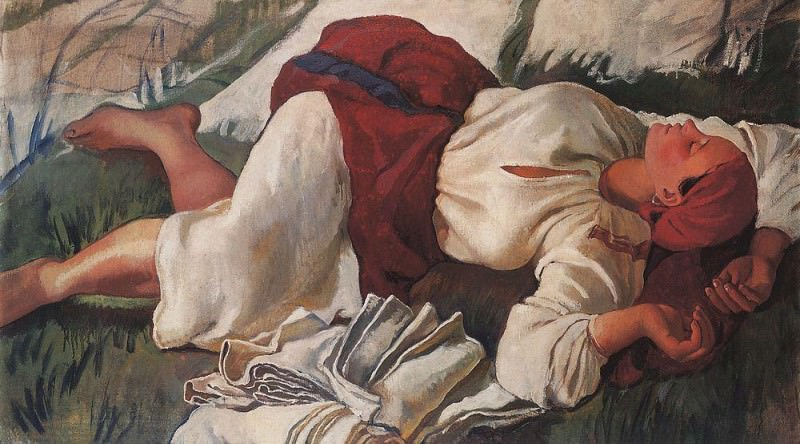 Zinaida Serebriakova. Zinaida Serebriakova, The Sleeping Peasant, 1917, Private collection.