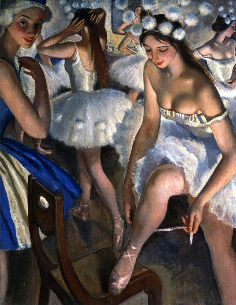 Zinaida Serebriakova. Zinaida Serebriakova, Ballet Dressing Room. Snowflakes (Pyotr Tchaikovsky's Ballet The Nutcracker), 1923, The State Russian Museum, Saint Petersburg, Russia.