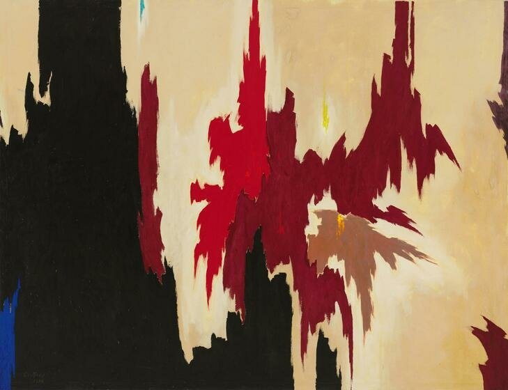 Abstract Expressionism 101. Clyfford Still, Untitled, 1956, oil on canvas. Whitney Museum of American Art, New York, USA.