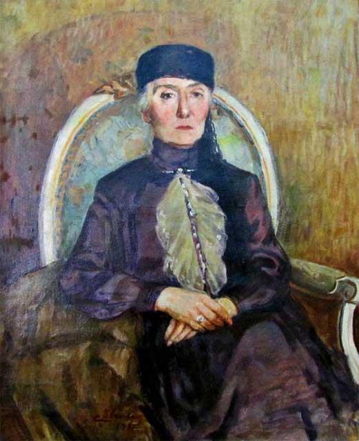 İbrahim Çallı, Portrait of Aliye Moralı, date unknown, Ankara Painting and Sculpture Museum, Ankara, Turkey.