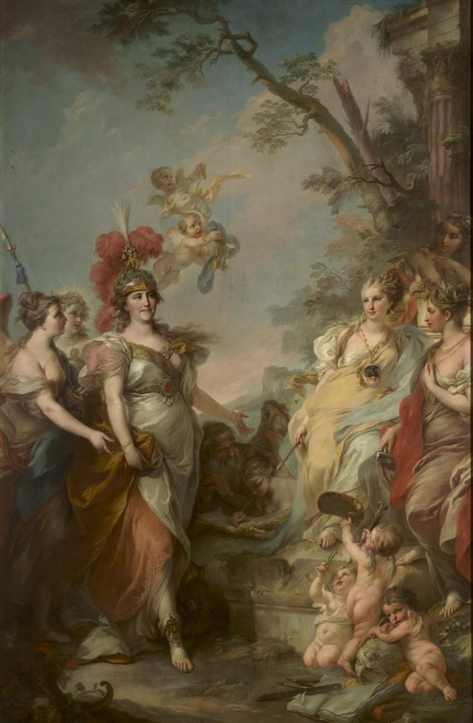 Catherine the Great portraits.  Stefano Torelli, Catherine II as Minerva, Patroness of the Arts, 1770, The State Russian Museum, Saint-Petersburg, Russia.