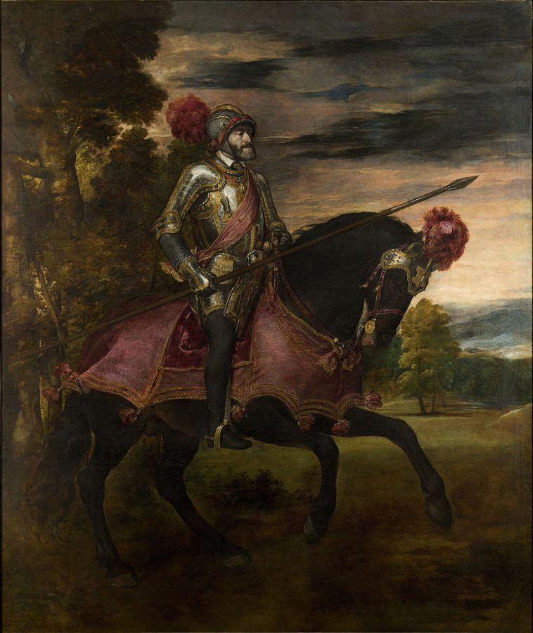 10 Things You Should Know About Titian: Titian, Equestrian Portrait of Charles V, 1548, Museo Nacional del Prado, Madrid, Spain.