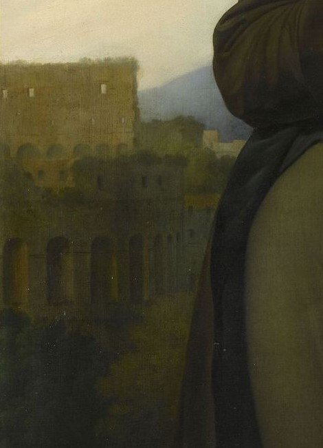 Enneagram artists: Anne-Louis Girodet de Roussy-Trioson, Chateaubriand Meditating on the Ruins of Rome, ca. 1808, detail, Ville et Pays Malouin History Museum, Saint-Malo, France.