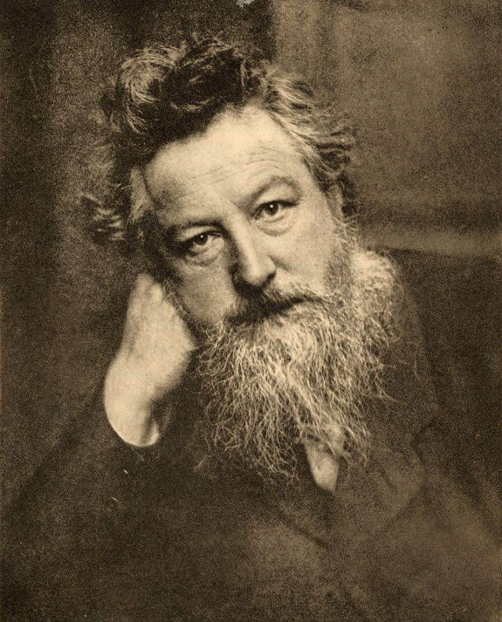 Enneagram artists: Portrait of William Morris, age 53, 1899 (photo c. 1887), Photograph by Frederick Hollyer.