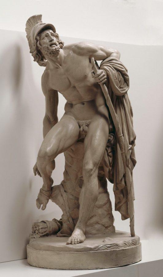 Jean Baptiste Carpeaux, Wounded Philoctetes Surrenders to his Pain, 1852, Musée des Beaux-Arts de Valenciennes, Valenciennes, France.