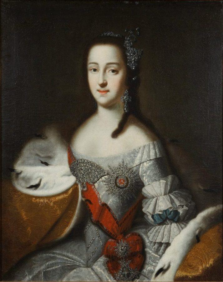 Catherine the Great portraits.  Anonymous author, Catherine II as Grand Duchess, 1748, The State Historical Museum, Moscow, Russia.