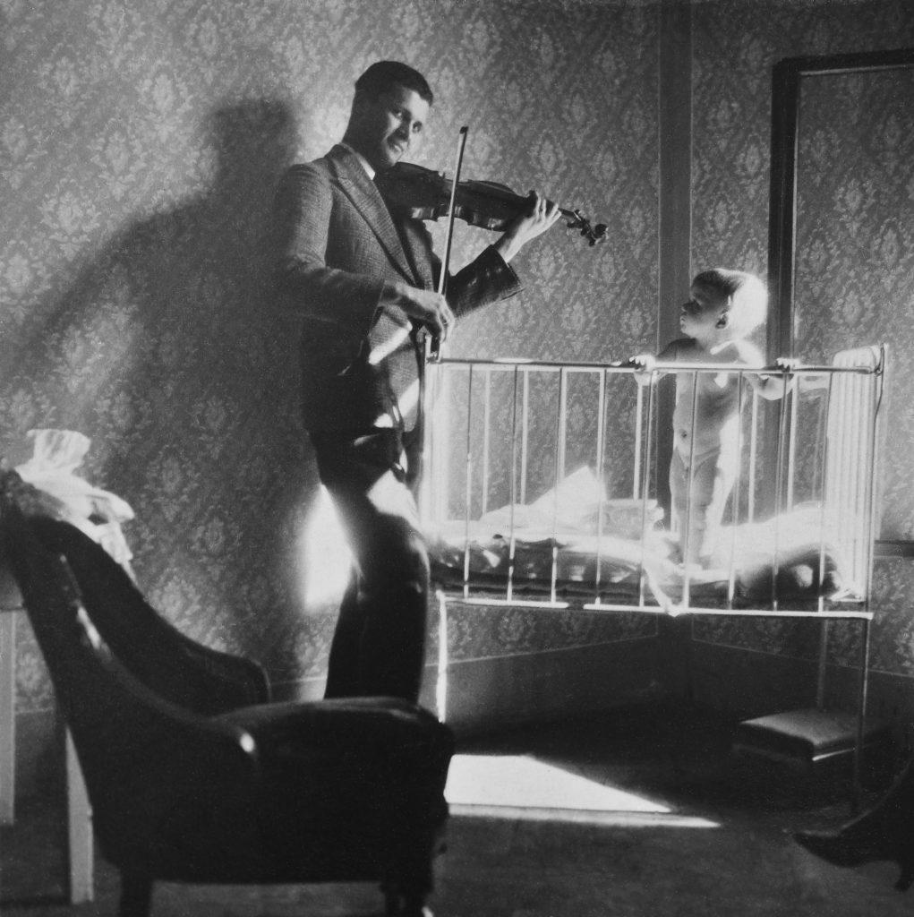 Zdzisław Beksiński and music: Young Zdzisław Beksiński listening to music, ca.1930, Sanok, Poland.
