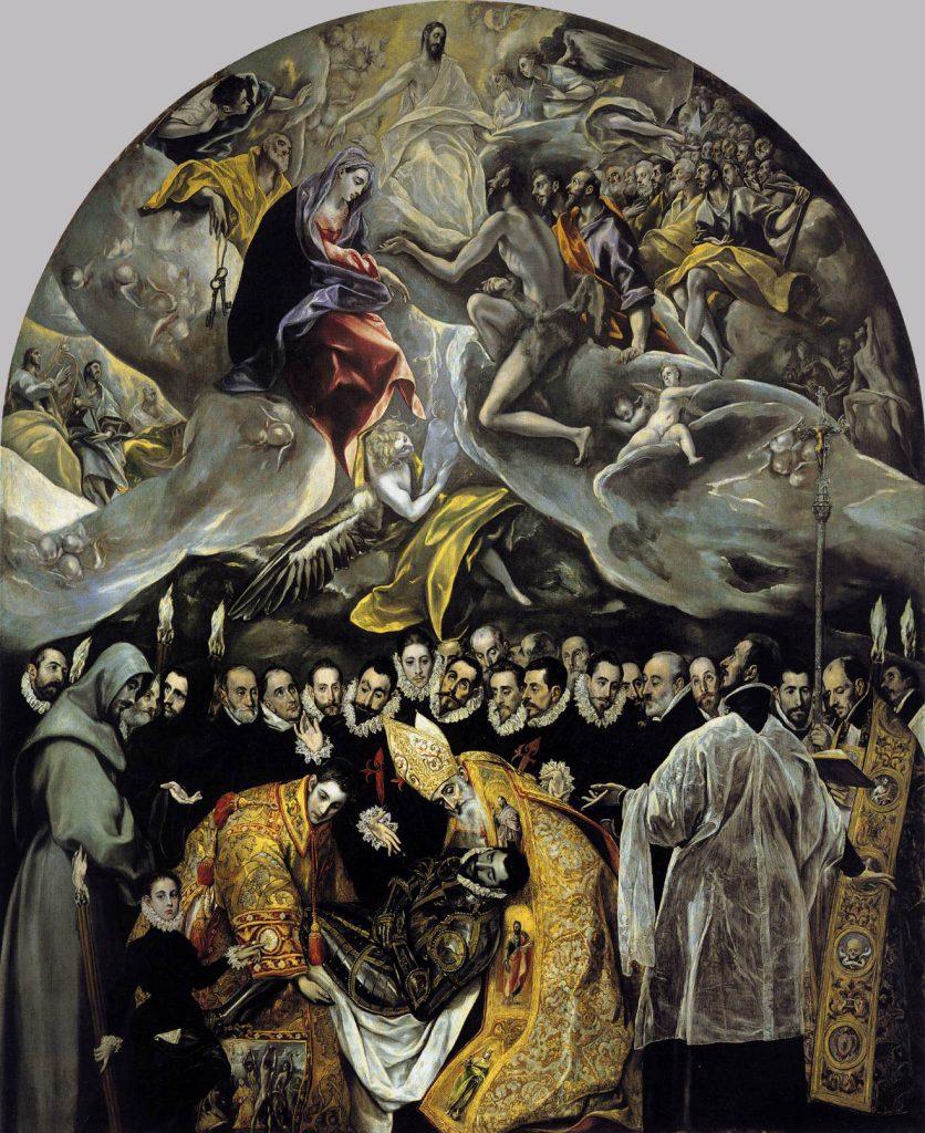 El Greco, The Burial of the Count of Orgaz, 1568, Iglesia de Santo Tomé, Toledo, Spain.