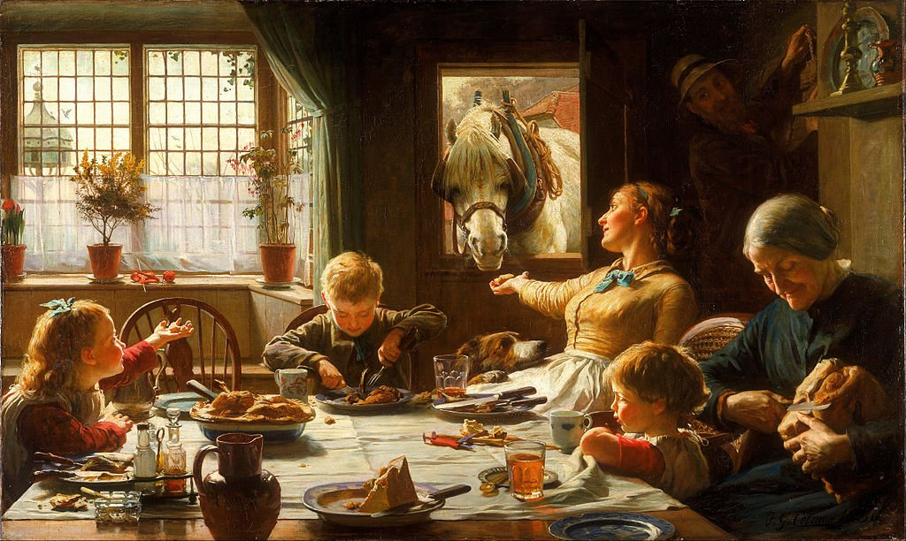 Parenting in art:Frederick George Cotman, One of the Family, 1880, Walker Art Gallery, Liverpool, UK.