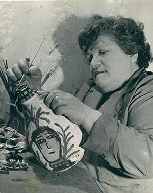 Janet Sobel, Photograph of Janet Sobel, c. 1944. Courtesy of Gary Snyder Fine Art, New York, NY, USA.