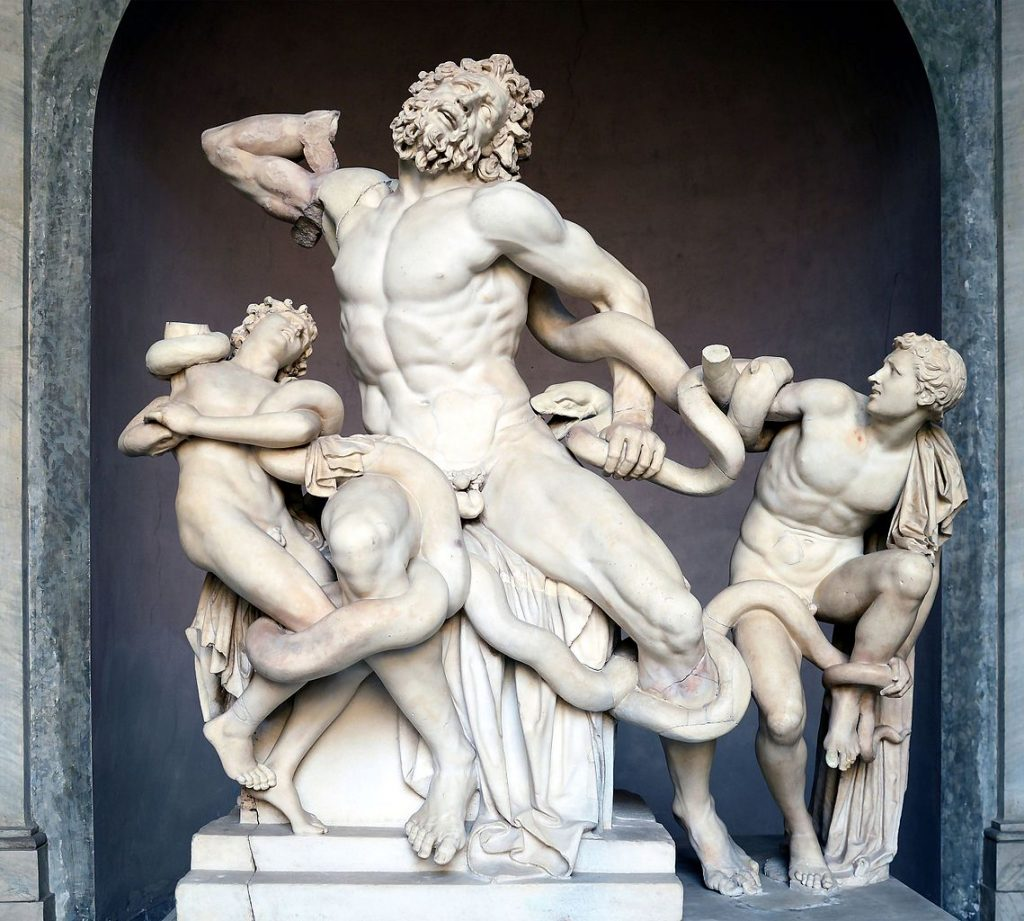 parenting art, Unknown artist, Laocoön and His Sons, excavated 1506, Vatican Museums, Vatican City.