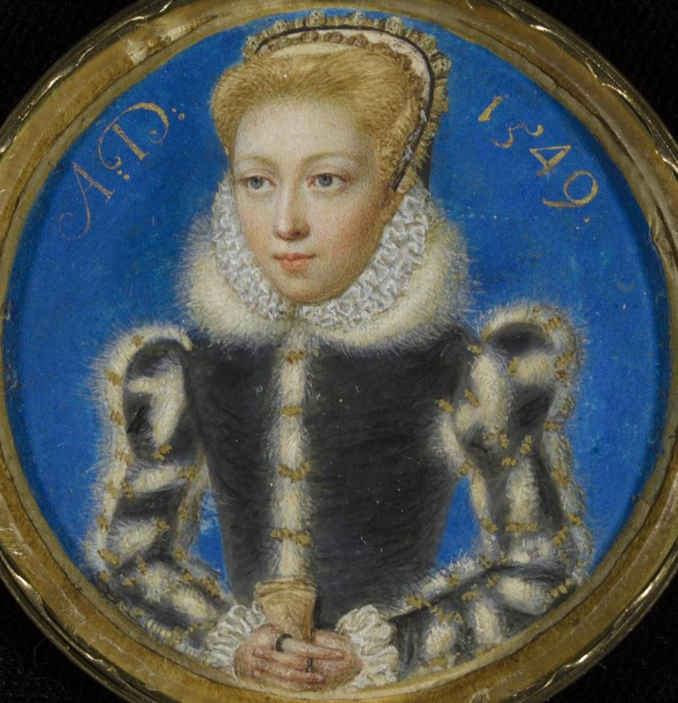 female court painters, Levina Teerlinc, A Girl formerly thought to be Queen Elizabeth I as Princess, 1549, Victoria & Albert Museum, London, UK