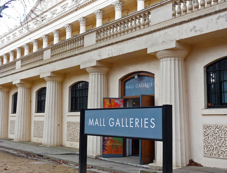 Mall Galleries: Photograph of the front entrance of Mall Galleries, London