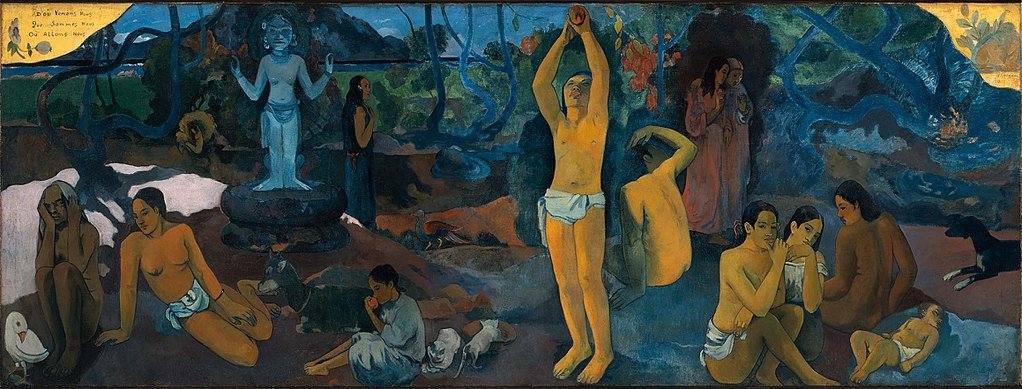 Paul Gauguin, Where Do We Come From, Who Are We, Where Are We Going?, 1897, Museum of Fine Arts, Boston, MA, USA.