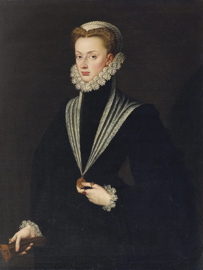 Female court painter Sofonisba Anguiisola's Portrait of Joanna of Austria dating back to  the1550s