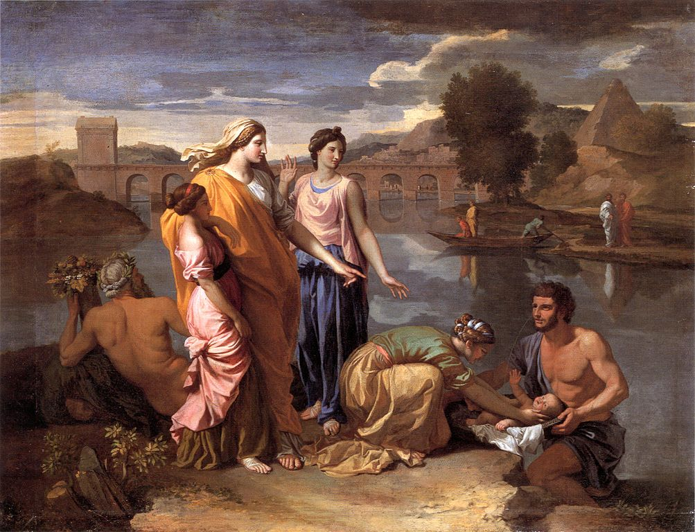 Parenting in art: Nicolas Poussin, The Finding of Moses, 1638, Louvre, Paris, France.