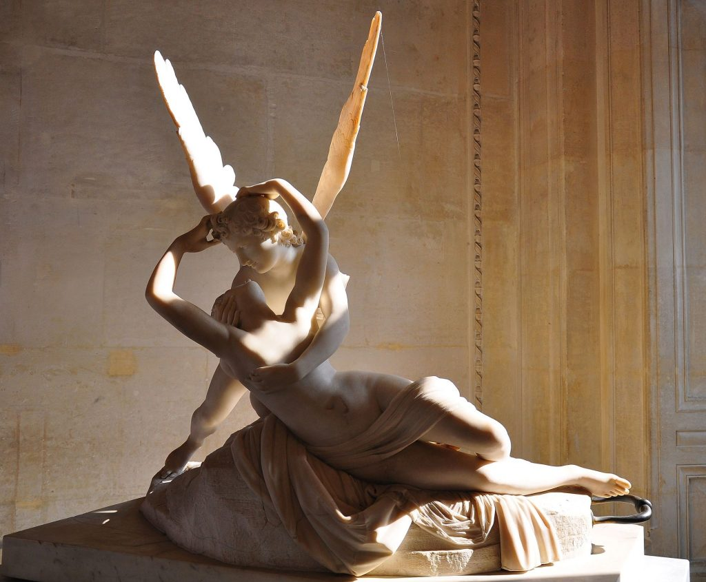Antonio Canova, Psyche Revived by Cupid's Kiss, between 1787 and 1793, Louvre, Paris, France.