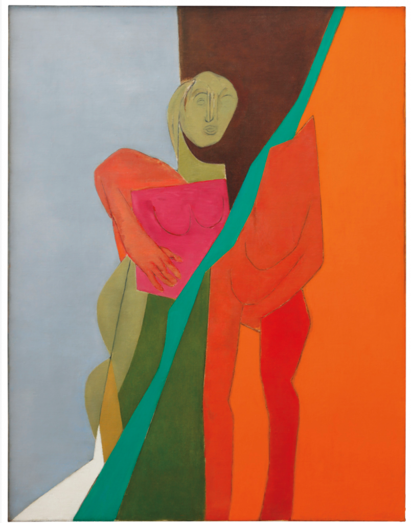 Indian Modern Painters: Tyeb Mehta, Diagonal, 1975, private collection.