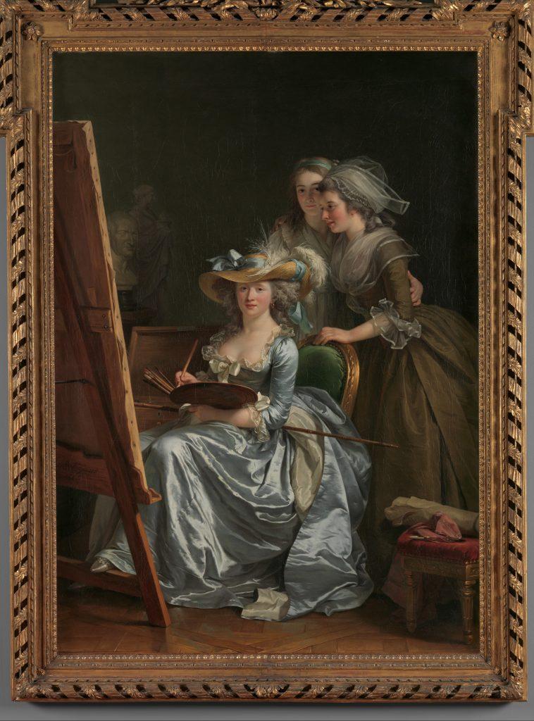 female court painters, Adélaïde Labille-Guiard, Self-Portrait with Two Pupils, Marie Gabrielle Capet and Marie Marguerite Carreaux de Rosemond, 1785, The Metropolitan Museum of Art, New York, NY, USA.