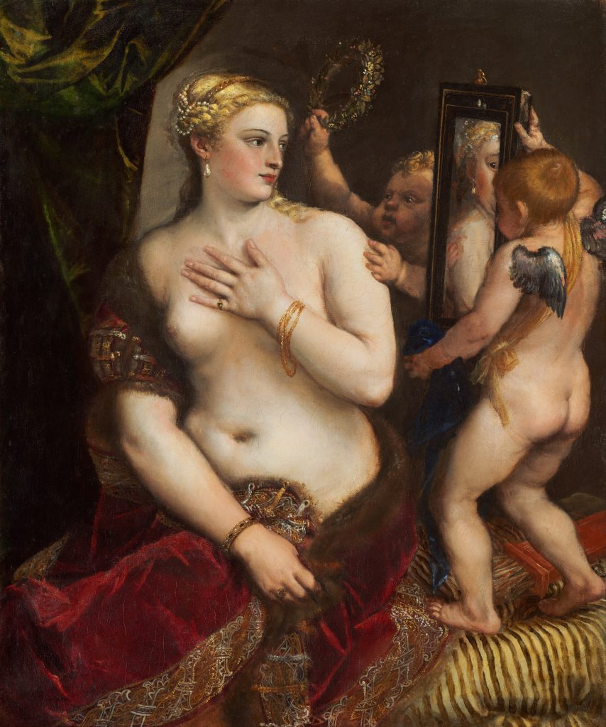 10 Things You Should Know About Titian: Titian, Venus with a Mirror, 1555, National Gallery of Art, Washington, DC, USA.