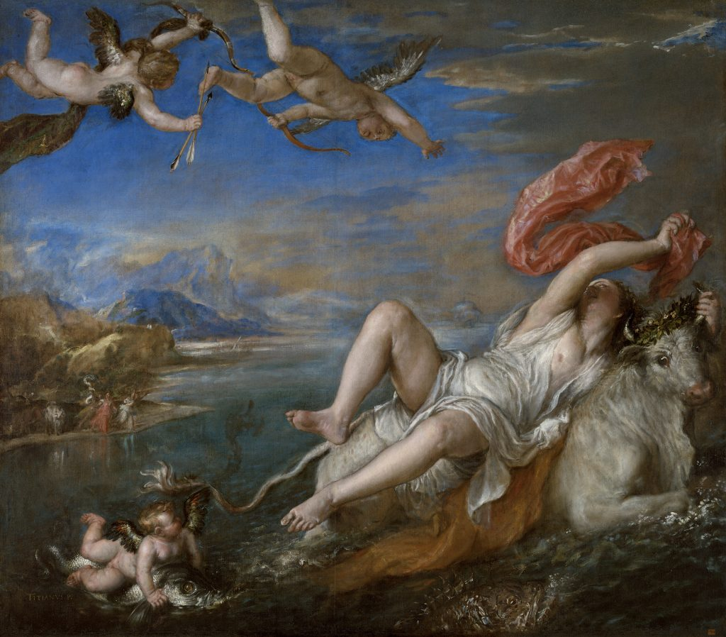 10 Things You Should Know About Titian: Titian, The Rape of Europa, 1560-62, Isabella Stewart Gardner Museum, Boston, MA, USA.
