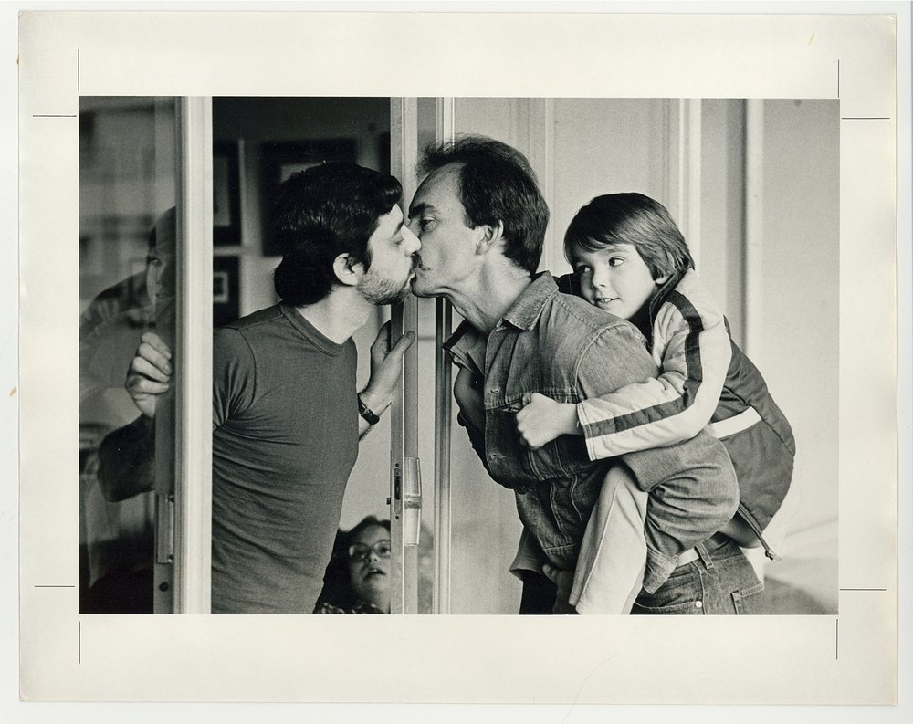 Parenting in art: J. Ross Baughman, Gay Dads Kissing, 1983, National Museum of American History, Washington, DC, USA.