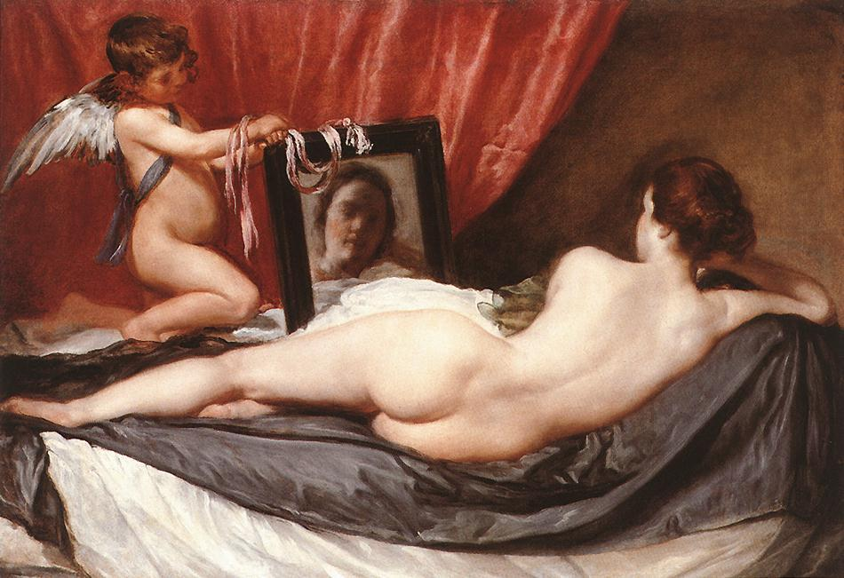 Best Bums in Art, Diego Velázquez, The Rokeby Venus, 1647–1651, National Gallery, London, UK.