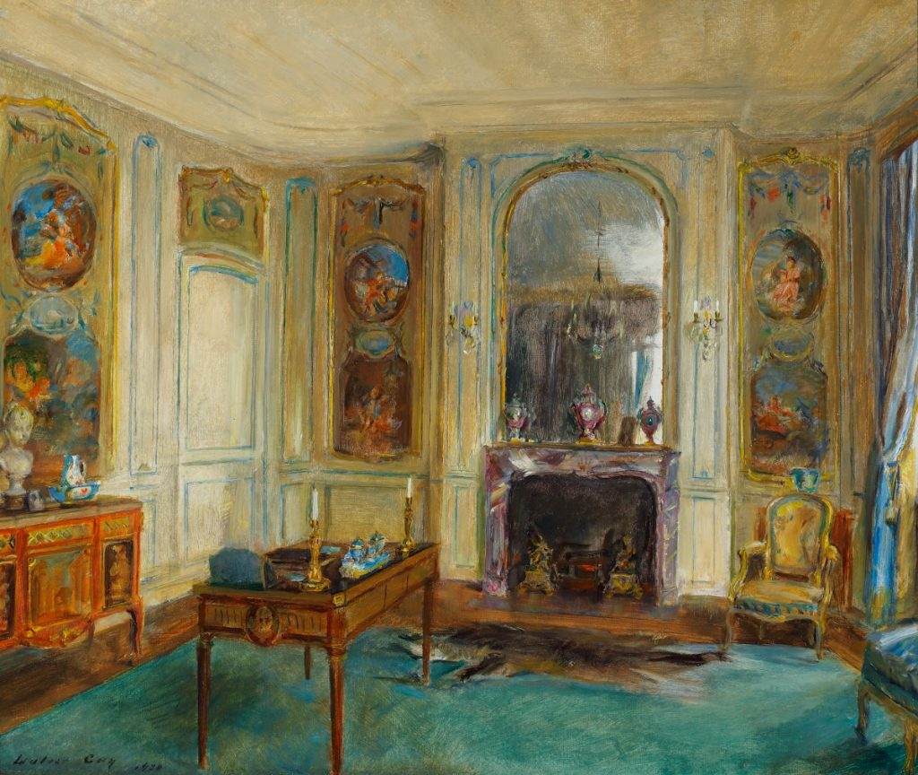 Paintings of exquisite palace interiors: Walter Gay, The Boucher Room, ca. 1928, The Frick Pittsburgh, Pittsburgh, PA, USA.