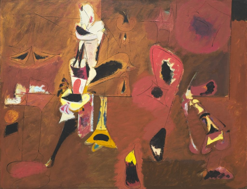 Abstract expressionism 101, Arshile Gorky, Agony, 1947, oil on canvas. The Museum of Modern Art, New York, USA.