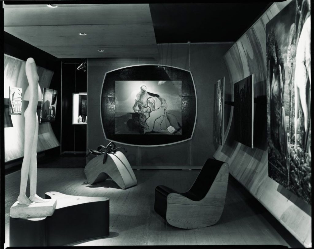 """31 Women peggy guggenheim: Installation view of the exhibition """"Bauhaus: 1919–1928,"""" at The Museum of Modern Art, New York. Courtesy of The Museum of Modern Art Archives, New York, NY, USA"""