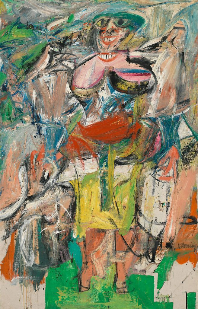 Abstract Expressionism 101. Willem de Kooning, Woman and Bicycle, 1952-3, oil, enamel, and charcoal on linen. Whitney Museum of American Art, New York, USA.