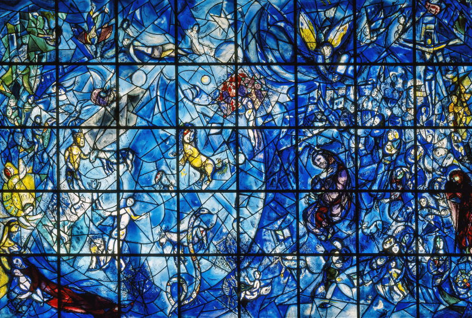 Enneagram artists: Marc Chagall, Peace, 1964, stained glass window, United Nations, New York, US.