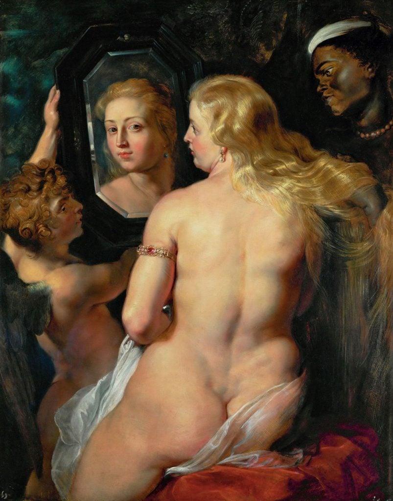 Female body in art: Peter Paul Rubens, Venus in Front of the Mirror, 1614 - 1615, Liechtenstein Museum, Vienna, Austria.