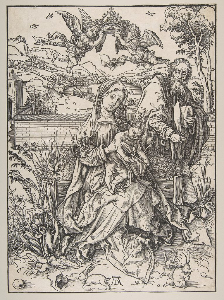 Medieval Killer Rabbits: Albrecht Dürer, The Holy Family with Three Hares, c. 1496, The Art Institute of Chicago, Chicago, IL, USA.