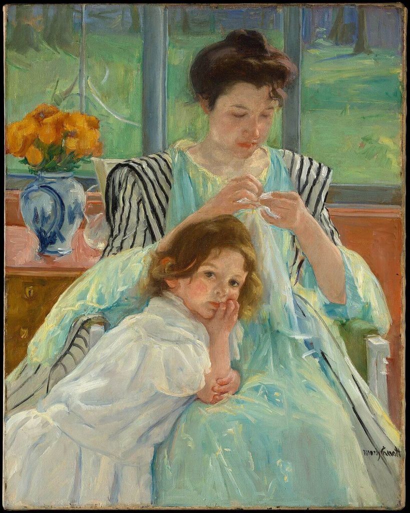 Mary Cassatt, Young Mother Sewing, 1900, Metropolitan Museum of Art, New York, NY, USA.