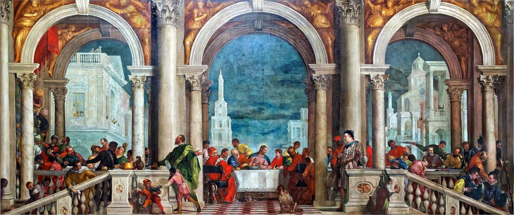 Paolo Veronese, The Feast in the House of Levi, 1573, Galleria dell'Accademia, Venice, Italy. painters of the Venetian Renaissance