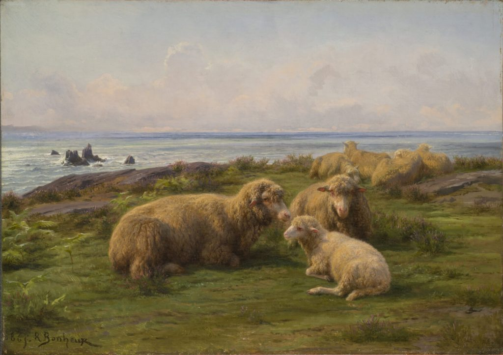 Rosa Bonheur, Sheep by the Sea, 1865, National Museum of Women in the Arts, Washington DC, USA.