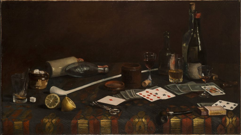 Claude Raguet Hirst, A Gentleman's Table, after 1890, National Museum of Women in the Arts, Washington, DC, USA.