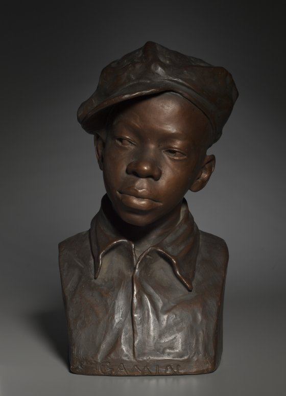 Augusta Savage, Gamin, c.1929, hand-painted plaster. Cleveland Museum of Art, Ohio, USA. Great Women Sculptors