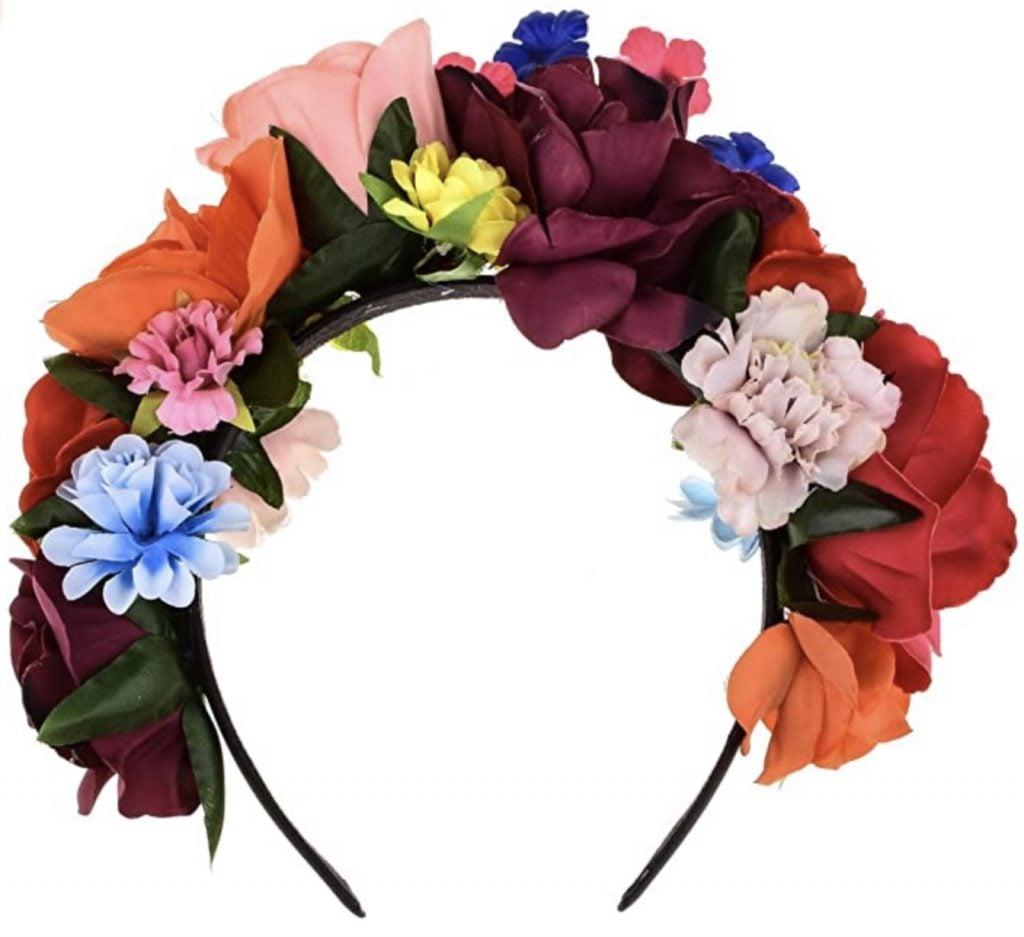 DreamLily Frida Kahlo Mexican Flower Crown Headband,  frida kahlo's style.