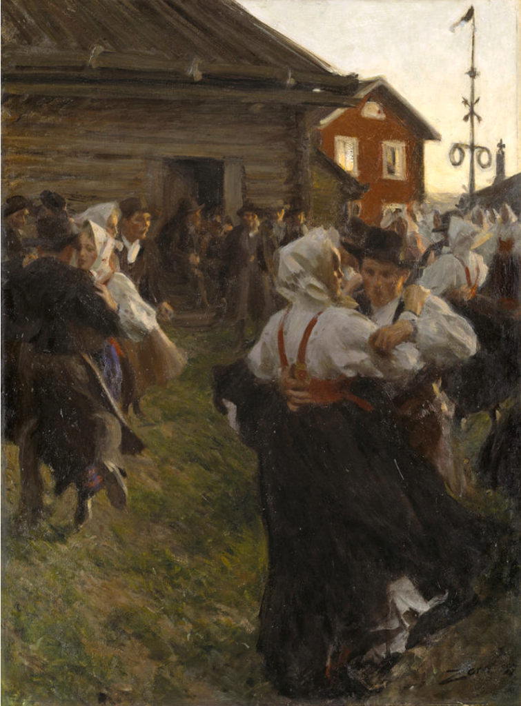 Anders Zorn, Midsummer Dance, 1897, Nationalmuseum Sweden.