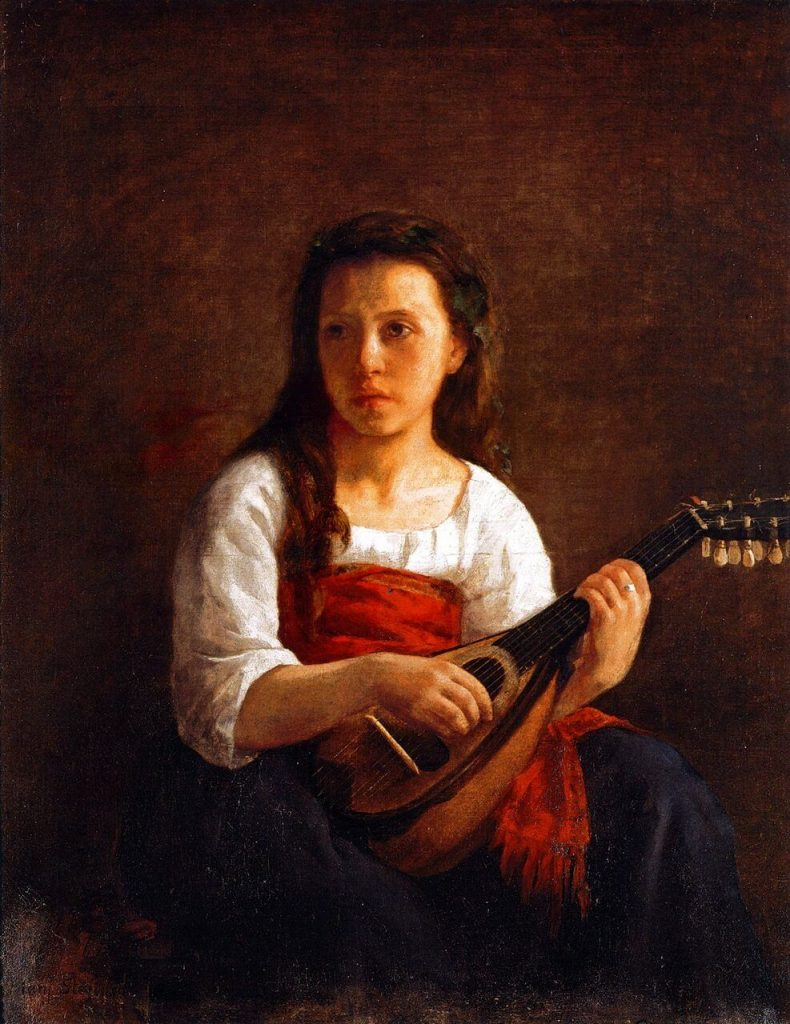 Mary Cassatt, The Mandolin Player, 1868, private collection.