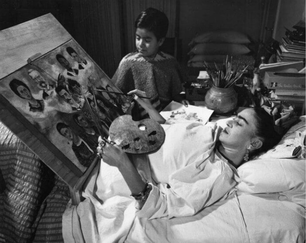 Frida Paint on Her Bed, 1932.