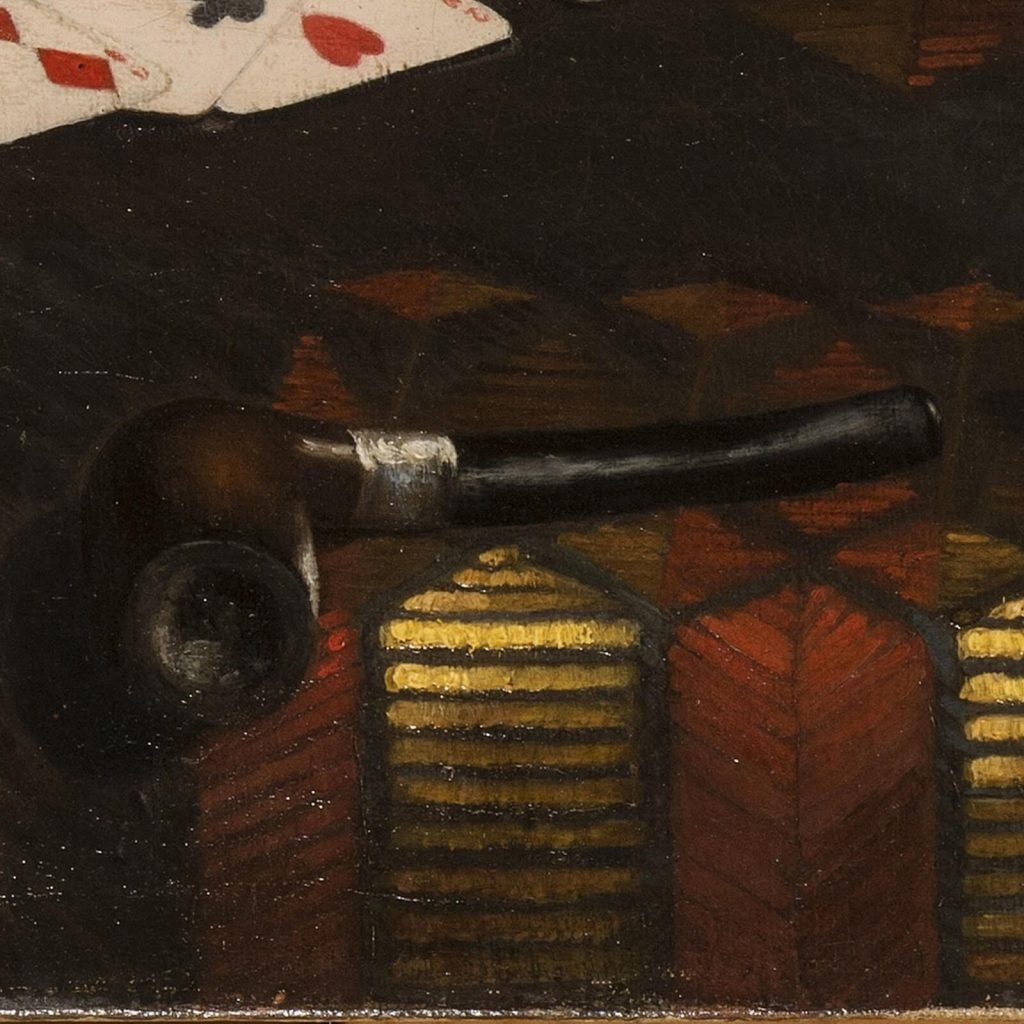 Claude Raguet Hirst, A Gentleman's Table, after 1890, National Museum of Women in the Arts, Washington DC, USA. Enlarged Detail of Tobacco Pipe.