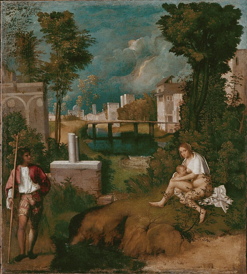 Giorgione, The Tempest, 1508, Gallerie dell'Accademia, Venice, Italy. painters of the Venetian Renaissance.
