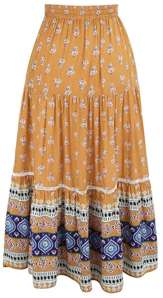 Maxi skirt, Frida Kahlo's style.